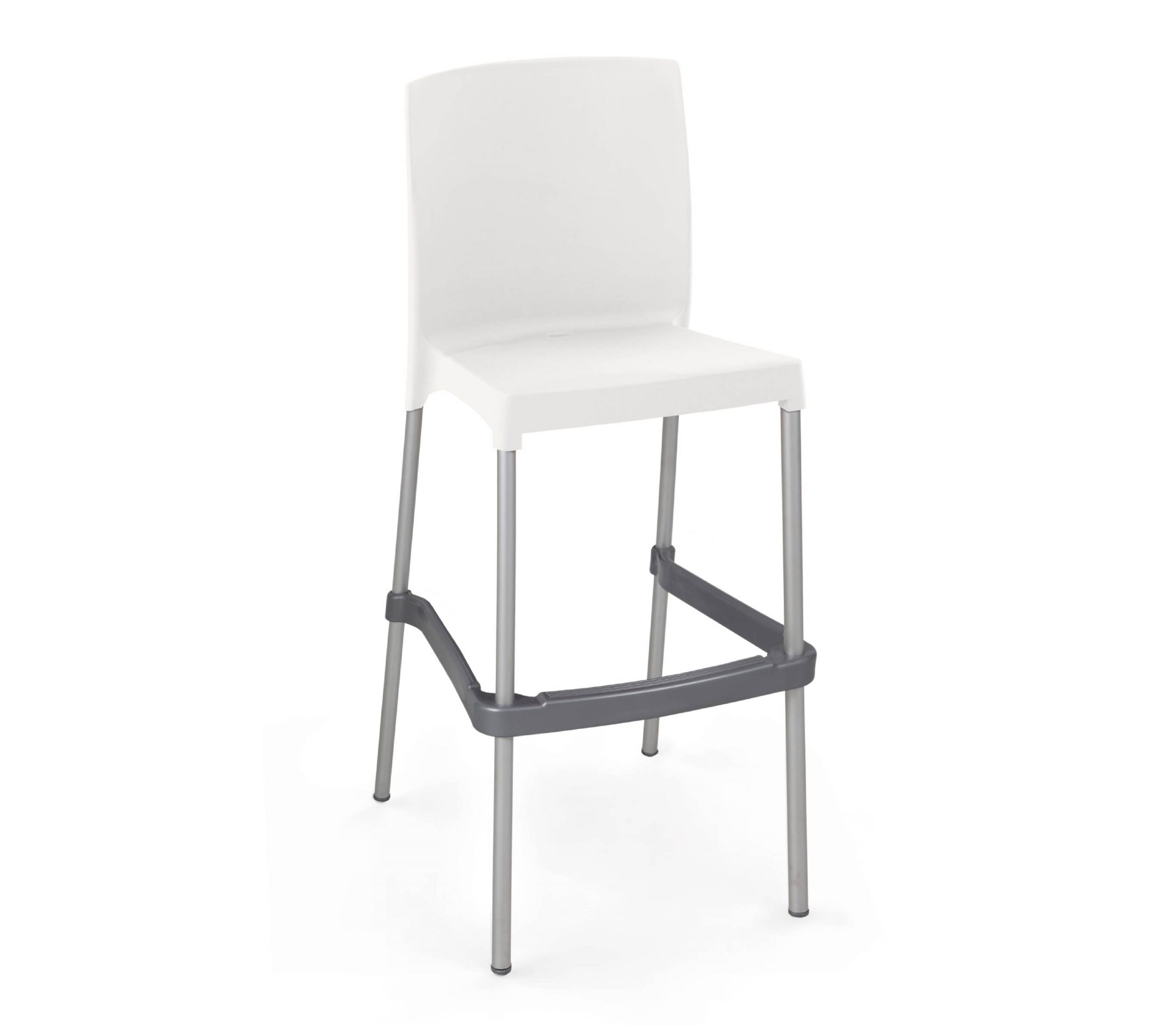 Bona stool in white, in a white background