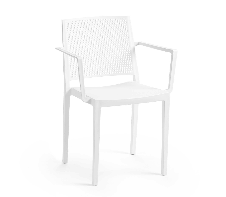 2 - TENSAI_FURNITURE_GRID_ARMCHAIR_plastic_chair_white_color_white_background_100_001