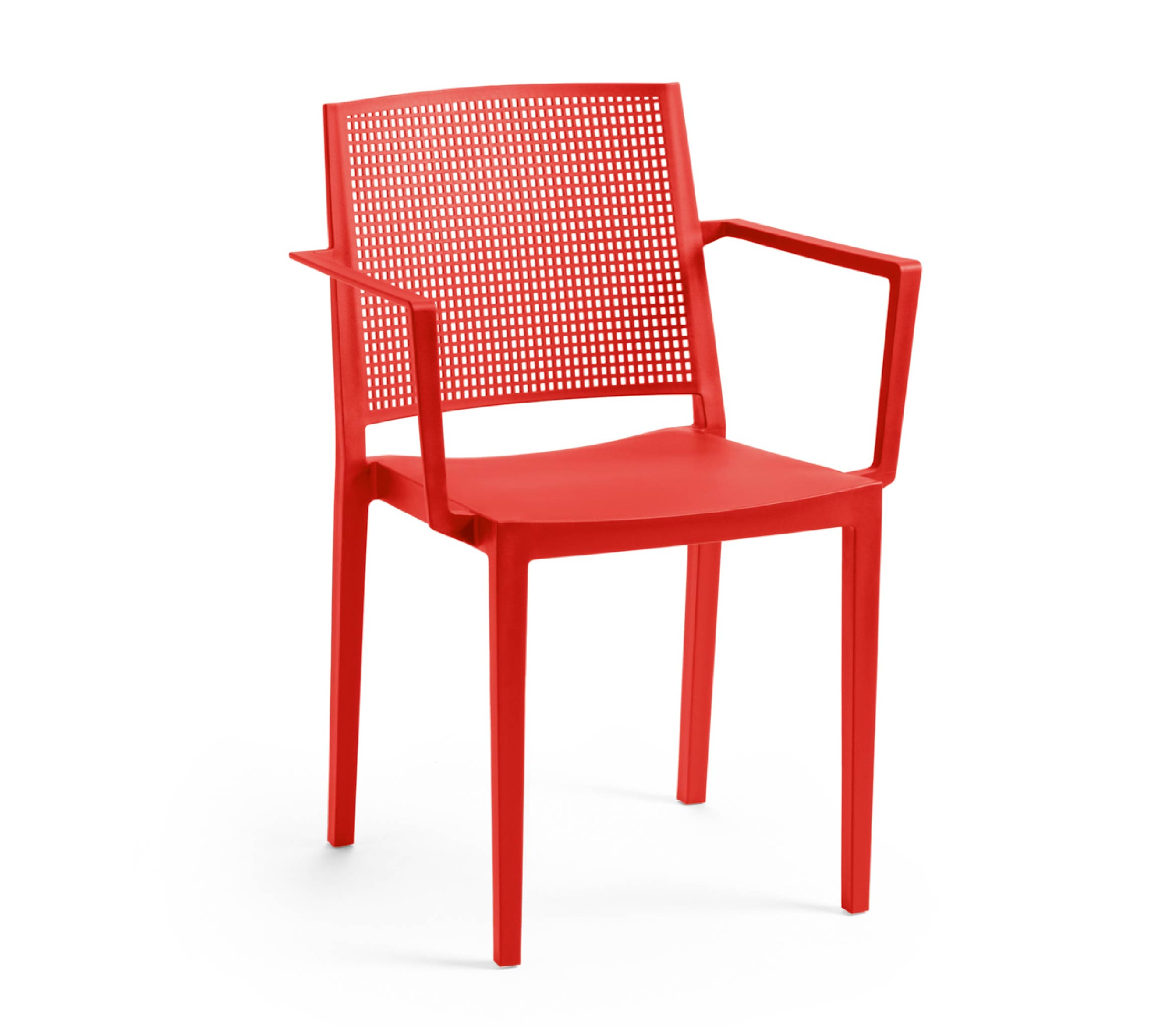 3 - TENSAI_FURNITURE_GRID_ARMCHAIR_plastic_chair_cherry_red_color_white_background_405_001