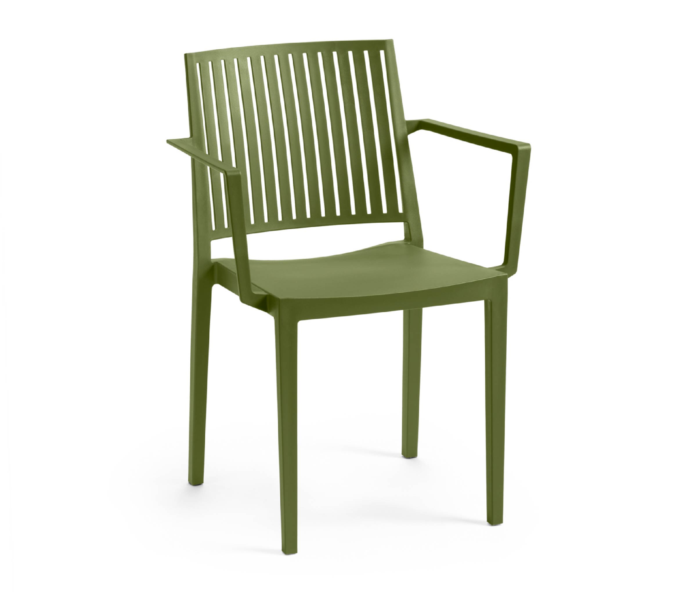 4 - TENSAI_FURNITURE_BARS_ARMCHAIR_GREEN_OLIVE_COLOR_PLASTIC_white_background_514_001